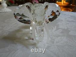1993 Cristal Swarovski Elephant Inspiration Afrique Scs Membre Piece Mint