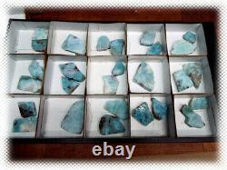 1lb Larimar Full Flat Ocho Geode Halfs Smoky Quartz Crystal Pieces Lot