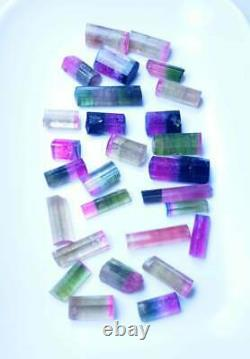 200 Carat 28 Pieces Top Quality Bi Color Tourmaline Crystal Lot From Paprok