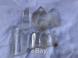 213 Gr Lot 11 Pieces Lumerian Optique Quartz Peñas Blancas Muzo Boyaca Colombie