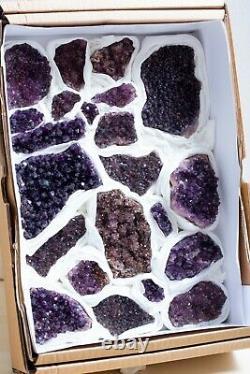 22 Pièces! Specimens De Cristal D'améthyste De Alacam, Turquie