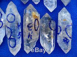 25g Pieces Rare Naturel Ont Déplacer Cristal Water Point Specimens