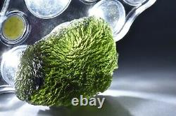 29.27g Musée Rare Piece Genuine Moldavite Tektite 40x 30 X 20mm #175