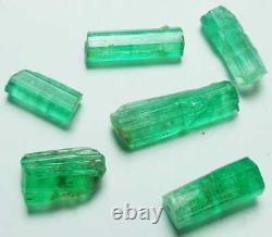 29.80 Carat 6 Pièces Top Quality Natural Emerald Crystal Lot From Panjshir