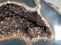 2,9 KG Énorme Agate Amethyst Geode. Un Hôtel Absolument Sensationnel, Showroom À Partir Uruguay
