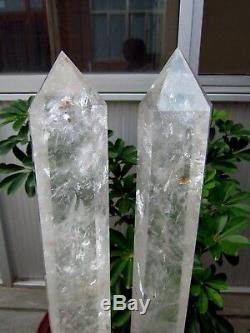 2 Pièces 25.06lb Natural Clear Pointe De Cristal De Cicatrisation