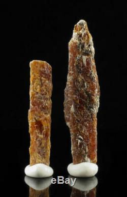2 Pièces 39.5g Lot Orange Kyanite De La Tanzanie, L'afrique 13051