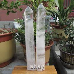 2 Pièces Natural Clear Quartz Crystal Point Healing