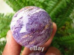 2 Pièces Rare Natural Charoite Perles Boule De Cristal De Quartz Boule De Guérison