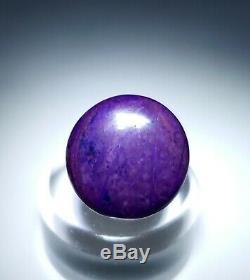 2 Pieces-violet Suglite Cristal Et Poli Cabochons, La Mine Afrique Du Sud