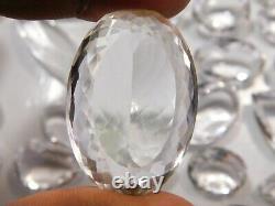 3000. Ct Cristal Naturel Clair Quartz Cabochon Gemme En Gros Lot De 77 Pièces