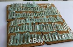 312 Grammes Top Aquamarine Terminated Lot Cristal 144 Pièces De Shagir, Pakistan