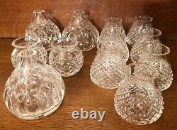 31 Oss Vintage Waterford Crystal Lamp Bodies + Pièces / Pièces / Cristaux Voir Tous Les Pic