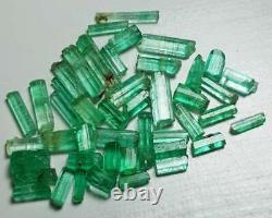 35 Carat 44 Pièces Top Quality Natural Emerald Crystal Lot From Panjshir Valley