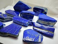 3800 Grams Top Qualité Lapis Lazuli Tambal Poli 11 Pièces De @ Afghn