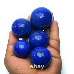 460 Grammes Top A+++ Qualité 100% Authentique Lapis Lazuli Sphere Balls 5 Pièces