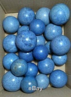 4.5 KG Boule Sphère Dumortierite Cristal Naturel 23 Pièces Minéraux Du Pérou