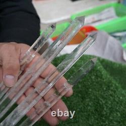 4 Pièces 14-16 Tall Thin Natural Clear White Quartz Crystal Point Wands Healing