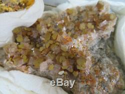 4 Pièces Vanadinite Cristal Spécimen Plat San Carlos (mine Apex) Chihuahua Mexique