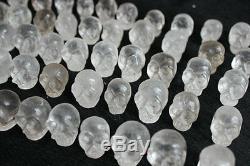 50 Petits Morceaux Naturel Clair Quartz Skulls Carved Livraison Gratuite