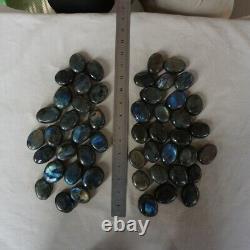 50 Pièces Natural Rainbow Labradorite Cristal Gem Spectrolite Palm Stone Healing