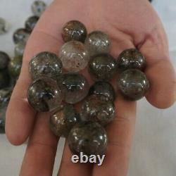 50pièces Fantôme Fantôme Naturel Clair Quartz Cristal Sphere Ball Guérison 17-22mm