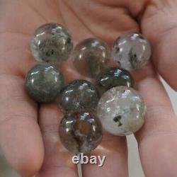 50pieces Natural Phantom Ghost Clear Quartz Crystal Sphere Ball Healing 17-22mm