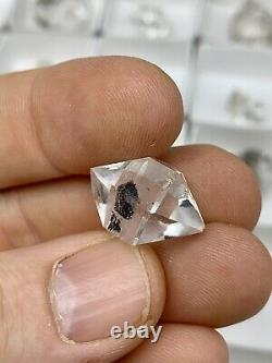 54 Piece Wholesale Flat Of Mixed B-c Grade Ny Herkimer Diamond Quartz Crystals