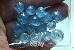 56 Carat Naturel Beau 16 Pièces Aquamarine Sculpté Fleur De Pierre Gemme Lot
