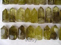 57 Pièces (17.9lb) Naturel Cristal De Quartz Fumé Citrine Guérison Ponctuelle