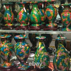 5,73 Lb Un Morceau De Couleurs Naturelles Sept Jade Vase -taiwan Chine