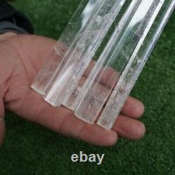5 Pièces 13-14 Tall Thin Natural Clear Quartz Crystal Point Wands Healing