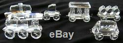 6 Pièces En Cristal Swarovski Train Avec Mirror Plate Train Rmc Piste