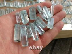 700 Grammes Top Aquamarine Terminé Lot De Cristal 230 Pièces De Shagir, Pakistan