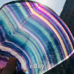 745g Naturel Fluorite Cristal De Quartz Pièce De Guérison Des Échantillons De Pierre