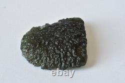 8.29g Musée Rare Piece Genuine Moldavite Tektite 30x 28 X 7mm #176
