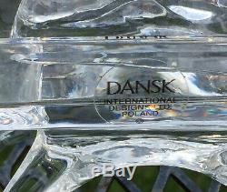 8 Pièces Dansk International Complet Crèche Cristal Au Plomb Monnaie