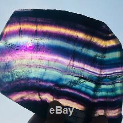 966g Naturel Fluorite Cristal De Quartz Pièce De Guérison Des Échantillons De Pierre