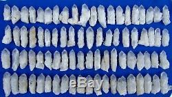 9.09lb (80 Pièces) Unique Squelette Naturel Cristal De Quartz Clair Point Specimens