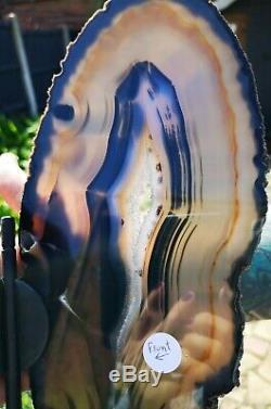 Affichage Géant Agate Papillon Pièce. Superbe Agate Naturel. La Guérison De Cristal
