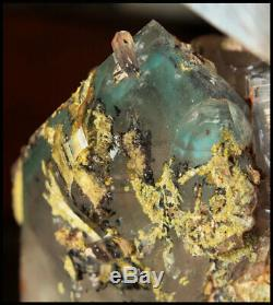 Ajoite, Kaolinite, Hématite, Epidote Old Piece, # 5 Arbre Musina, Afrique Du Sud
