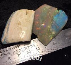 Andamooka Grande Brute Jelly Opal Pièces Avec Cristal Barres De Couleur