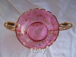 Antique Français Enameled Cystal Table Centre Piece, Dernier 19ème Century