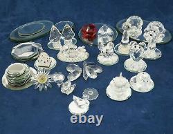 Assortiment Swarovski Crystal Lot 15 Pièces, Plateformes Miroirs - Livraison Gratuite États-unis