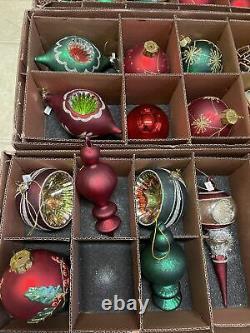 Balsam Hill Christmas Cheer Glass Ornament Set 29 De 32 Pièces
