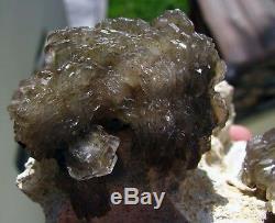 Barite Gemmy Green Crystals Brillants Sur Matrix Du Pérou. Amazing Piece