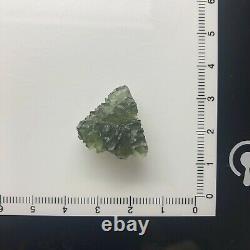 Besednice Moldavite Cristal 3.36gr/16.80ct Hedgehog Excellente Pièce À Bijoux