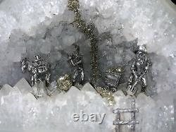 Big 8 1/4 Pouces Prestine Blanc Cristal De Quartz Geode Miner Figurines Piece Superbe