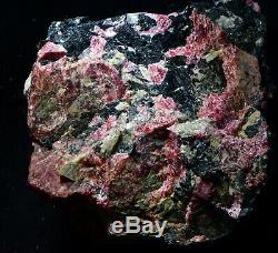 Big Piece Crystallized Eudialyte Big Xtals Thruout! Kippawa, Québec, Canada # Bk6