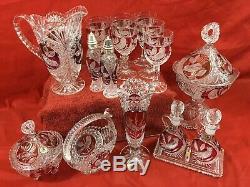 Bleikristall Hofbauer Byrdes Collection Ruby Cristal Au Plomb Pièces Allemagne